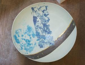 Schale abstrakt blau